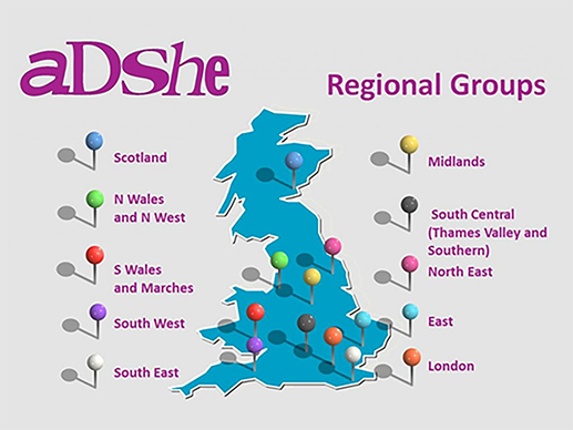 adshe regional groups pins